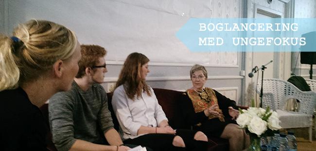 Fra venstre: Lise Juul Madsen fra 12 byer, Rasmus Petersen fra NAU, Emilie Quist Madsen fra Kulturjægerne og kulturminister Marianne Jelved.